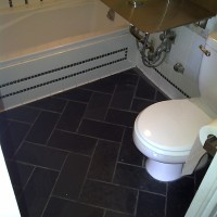 Before: Bathroom floor